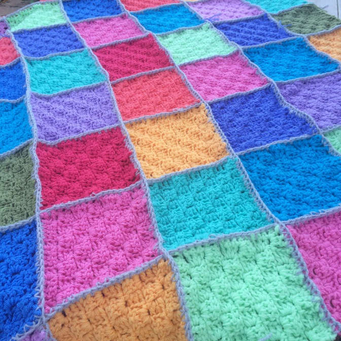 Finished: Rainbow Blanket