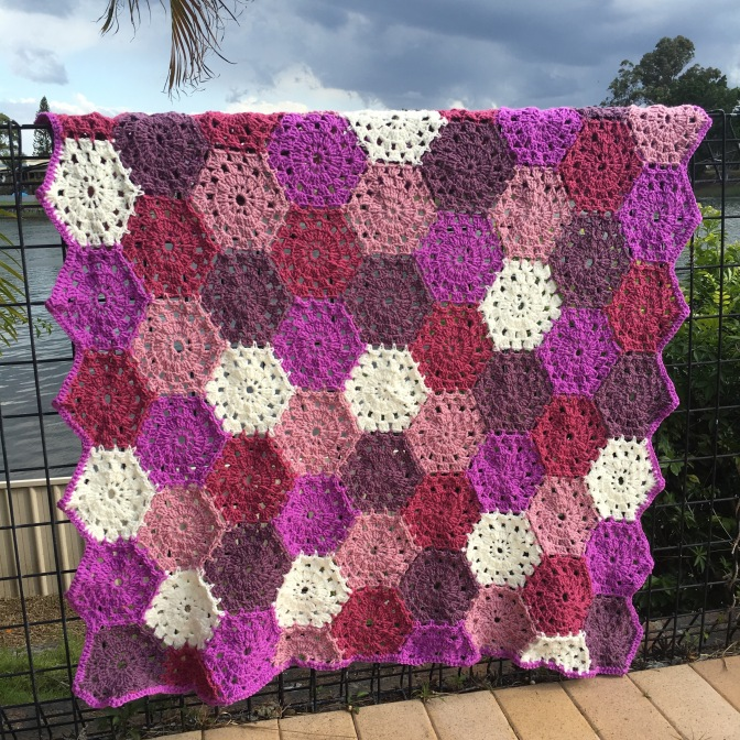 Finished: Hexagon Blanket 1