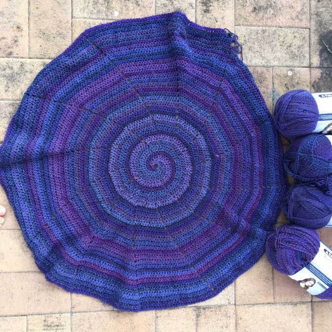 In Progress: Spiral Blankets x 2