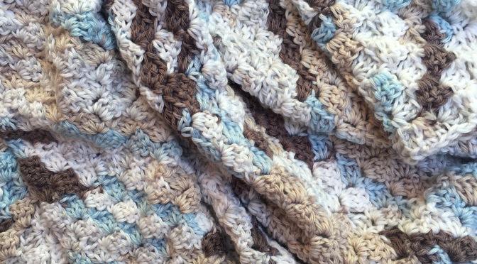 Finished: Blue Baby Blanket