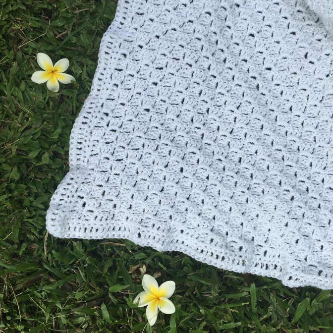 Finished: White Baby Blanket