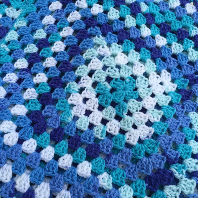 Finished: Blue Granny Square
