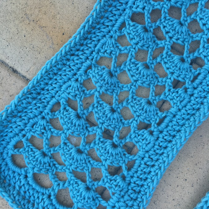 Finished:  Blue Lace Scarf