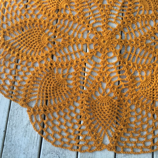 Finished: Pinapple doily