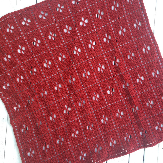 Finished: Red Call the midwife blanket