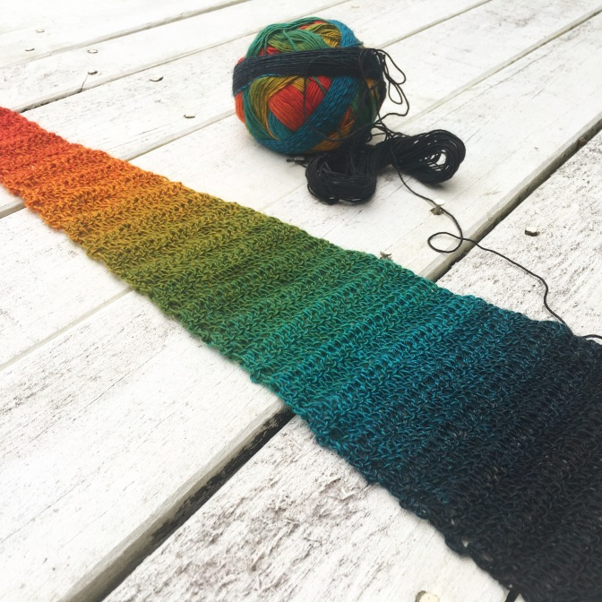 Finished: Rainbow Scarf