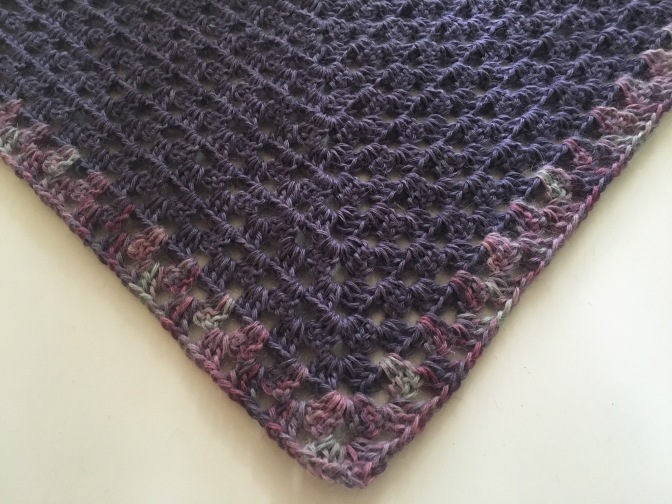Finished: Purple Shawl