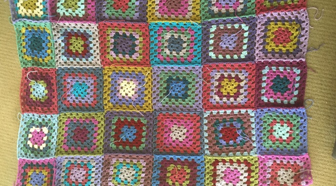 Finished: Giant Granny Blanket