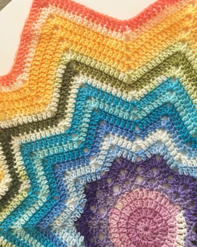 rainbow star blankets