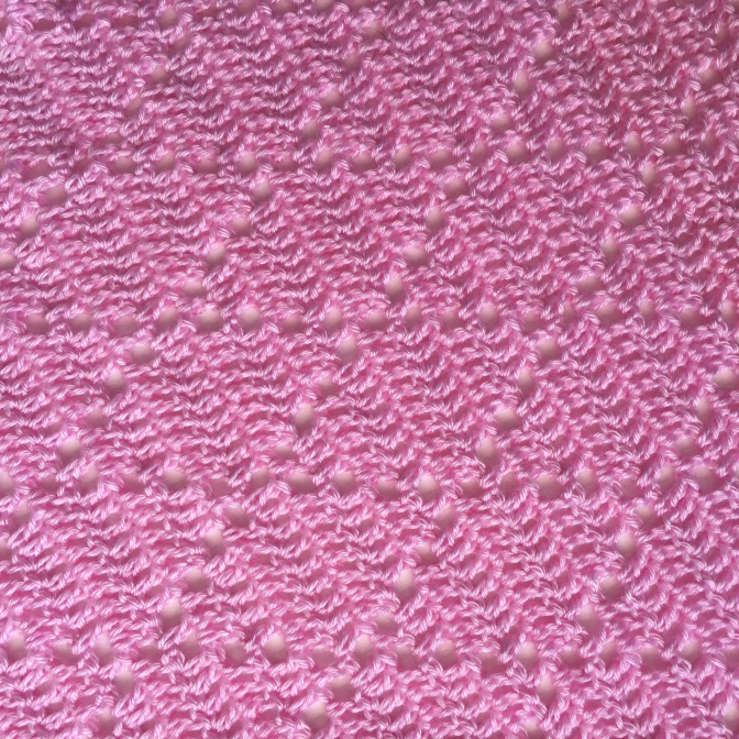 Finished: Pink Diamond Blanket
